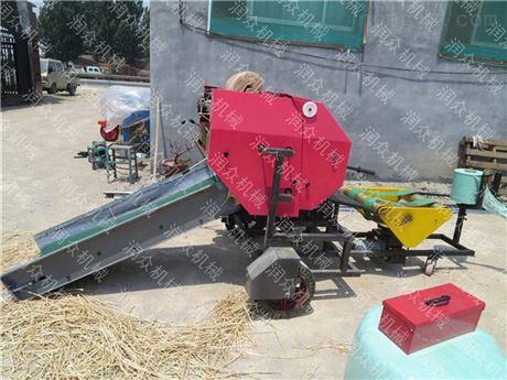 全自動青儲打捆機 養殖飼料青貯打包機