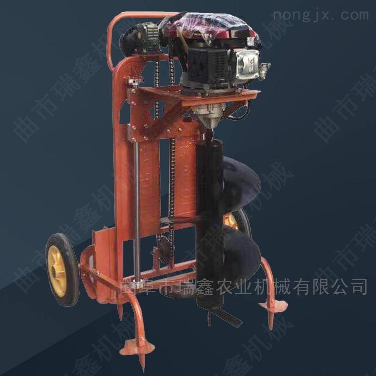 四沖程汽油挖坑機 加支架汽油機地鑽