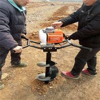 果树施肥挖坑机 汽油动力刨坑机 四轮钻坑机