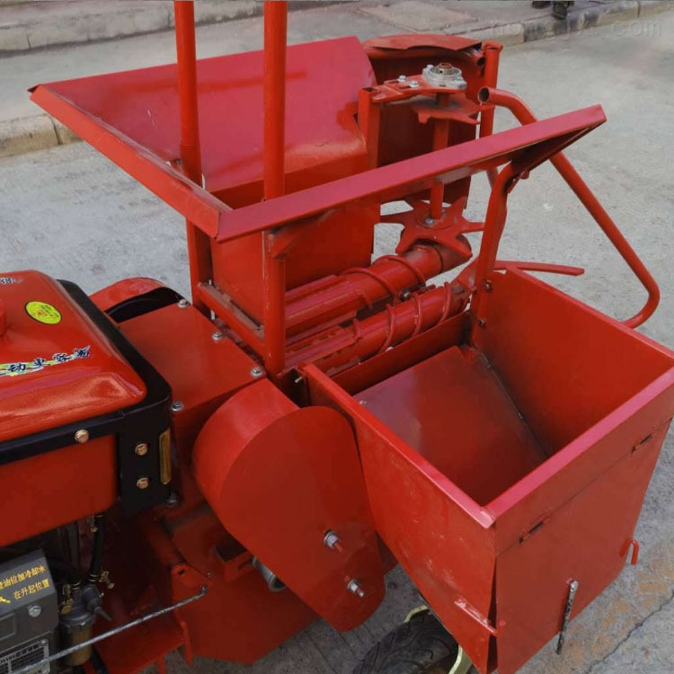 汽油玉米秸秆收割机单行汽油型玉米收货机