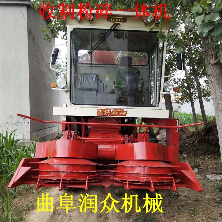 收割机厂家 自走式履带割晒机 苞米秆放倒机