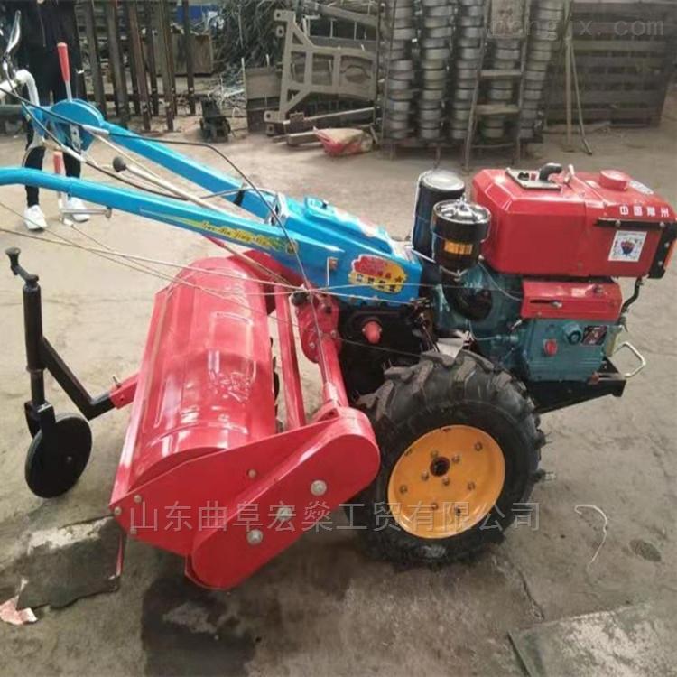 HS-小型手扶拖拉机带的犁地除草机