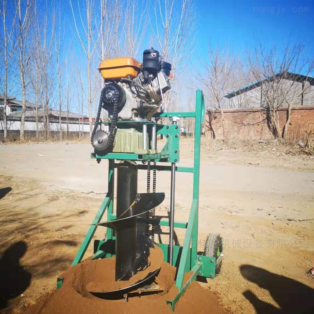 栽樹苗挖坑機 施肥立柱打洞機