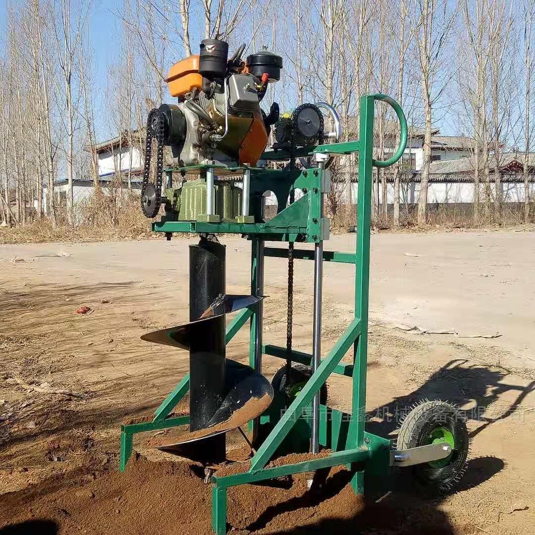 大马力拖拉机挖坑机 高效率快速钻眼机