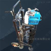 汽油支架式挖坑机