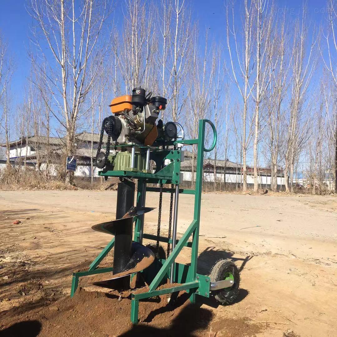 栽树用汽油机钻坑机 立柱栽桩打孔刨穴机
