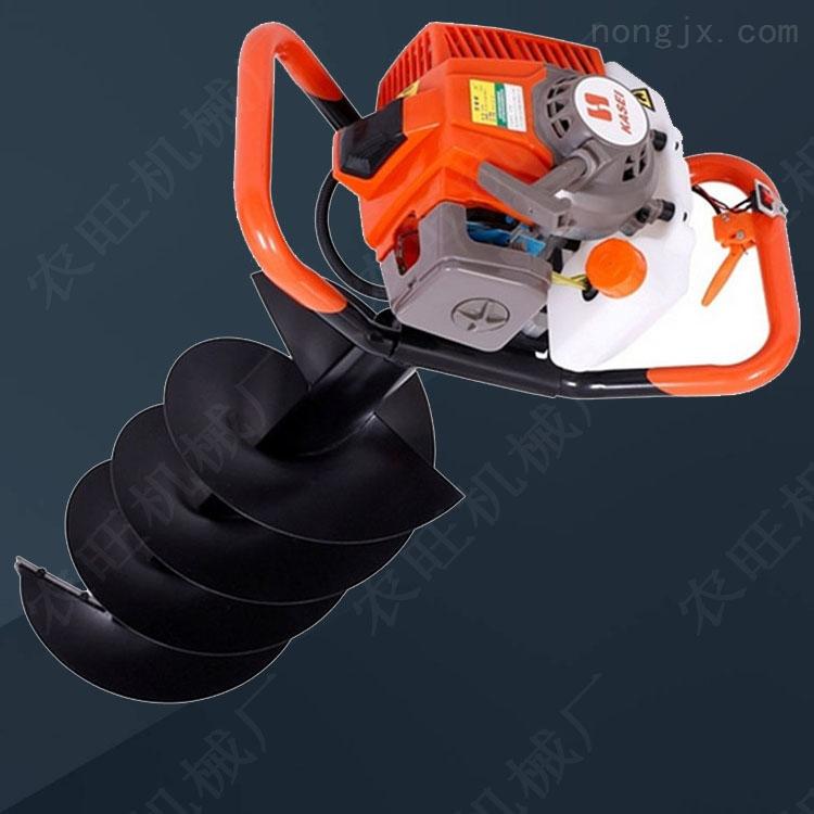 多功能打桩打洞机四轮悬挂式栽树挖坑机