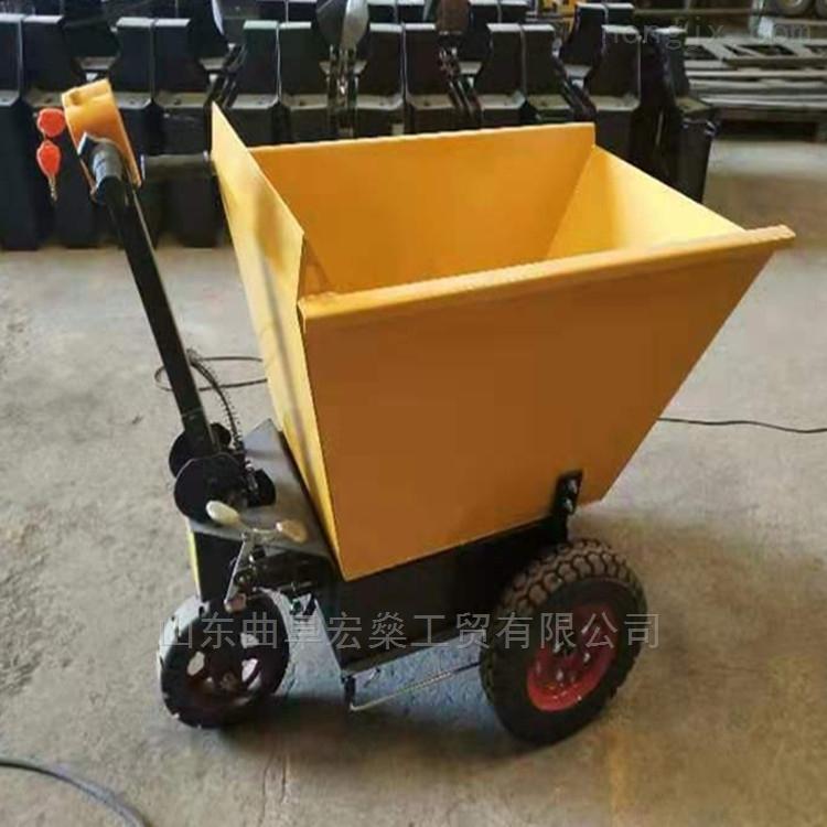 工地沙漿車 電動小推車 電動平板搬運車
