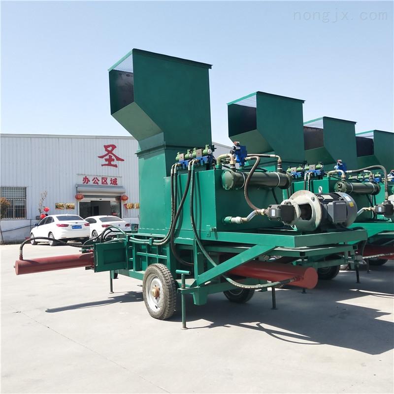 WS-960-稻壳打包机 三缸液压套袋打包机厂家