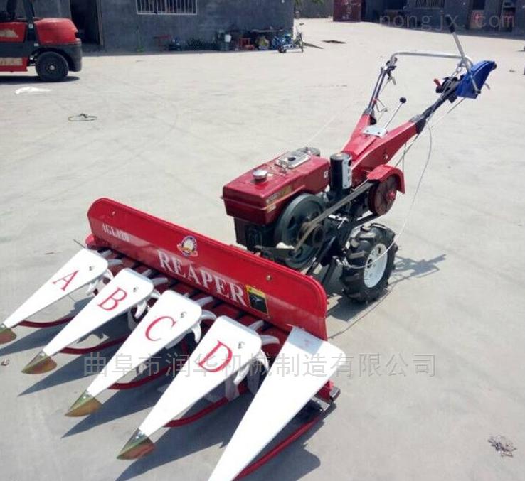 玉米秸秆侧倒割晒机 四轮车传动稻麦收割机