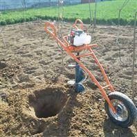 便携式植树挖坑机打眼机 汽油打孔机视频