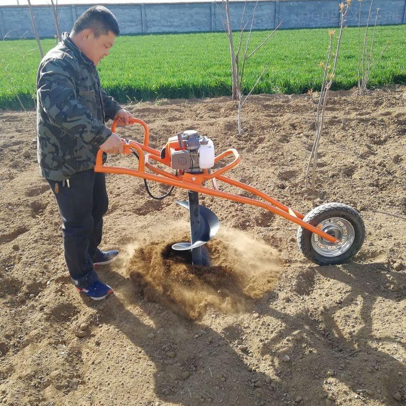 大面積綠化種植果樹挖坑機  綠化植樹鉆眼機