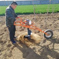 便捷小型挖坑机 四轮车带绿化植树挖洞机