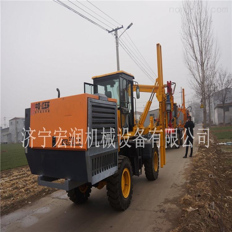 生产公路波形护栏打桩机 全液压打桩机  装载机护栏打桩机现货