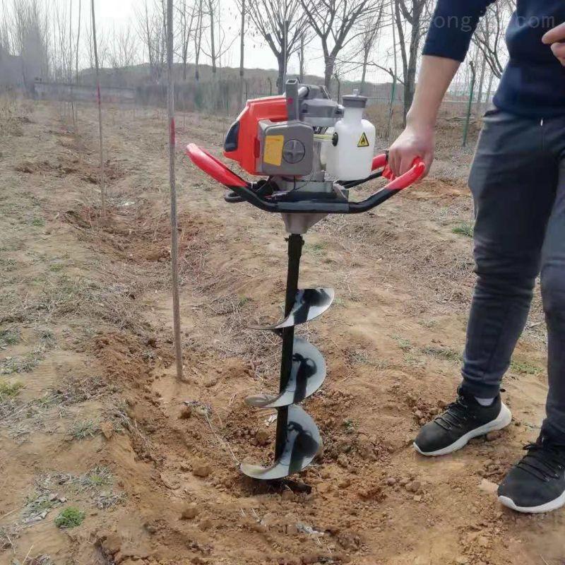綠化植樹挖坑機 操作輕松打洞機