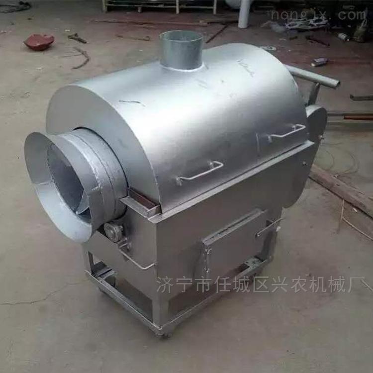 电加热不锈钢滚筒炒锅机 中药材烘干机