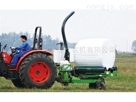 自动式圆草捆包膜机