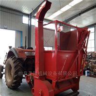 拖拉機帶動玉米秸稈青儲回收機