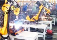 全自动车架焊接机器人 双座式焊接变位机