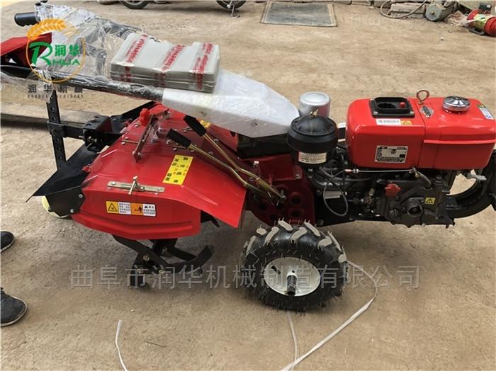 带除草功能的柴油微耕机 多用途果园旋耕机