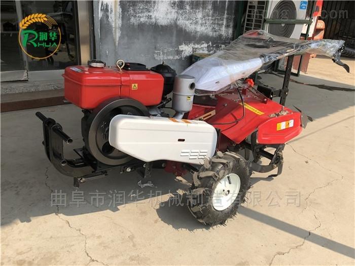 柴油12马力松土除草机 手推式小型微耕机