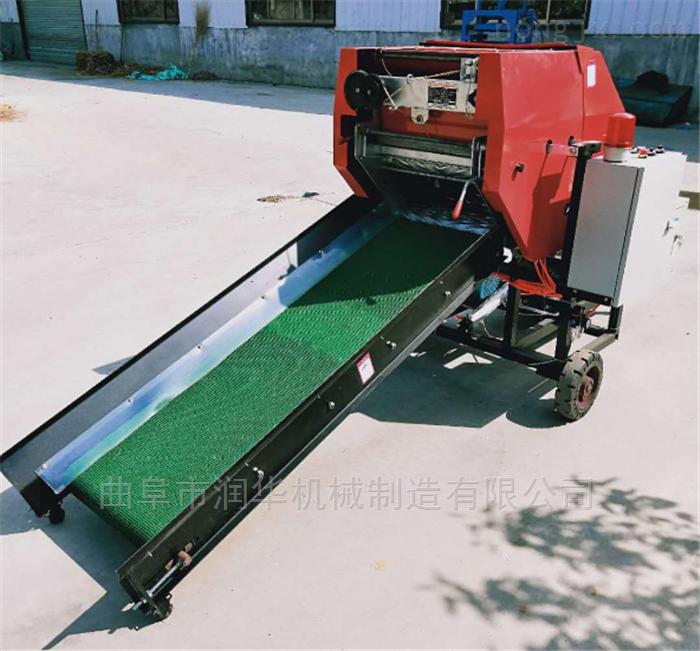 RF-DKJ-5960-秸秆保鲜青贮打包机 牧草捡拾打捆包膜机