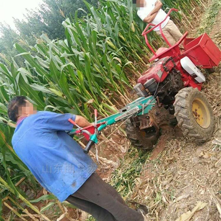 沧州自走式手扶拖拉机带玉米收获机