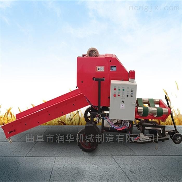 玉米秸秆青贮包膜机 干鲜芦苇秸秆打捆机