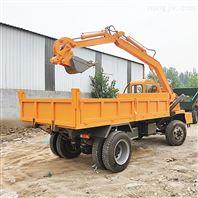 沙土工程机器挖沙运土怪样子随车发掘机