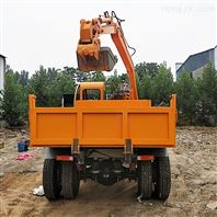 四驅隨車挖掘機 河道挖沙四不像勾機價格