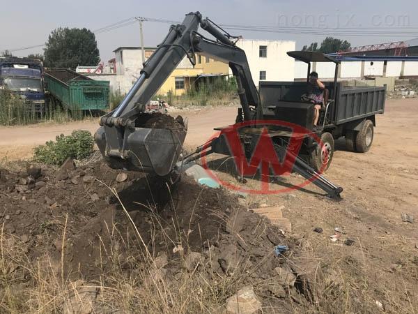 运输车小型四不像随车挖干活很二手挖掘机