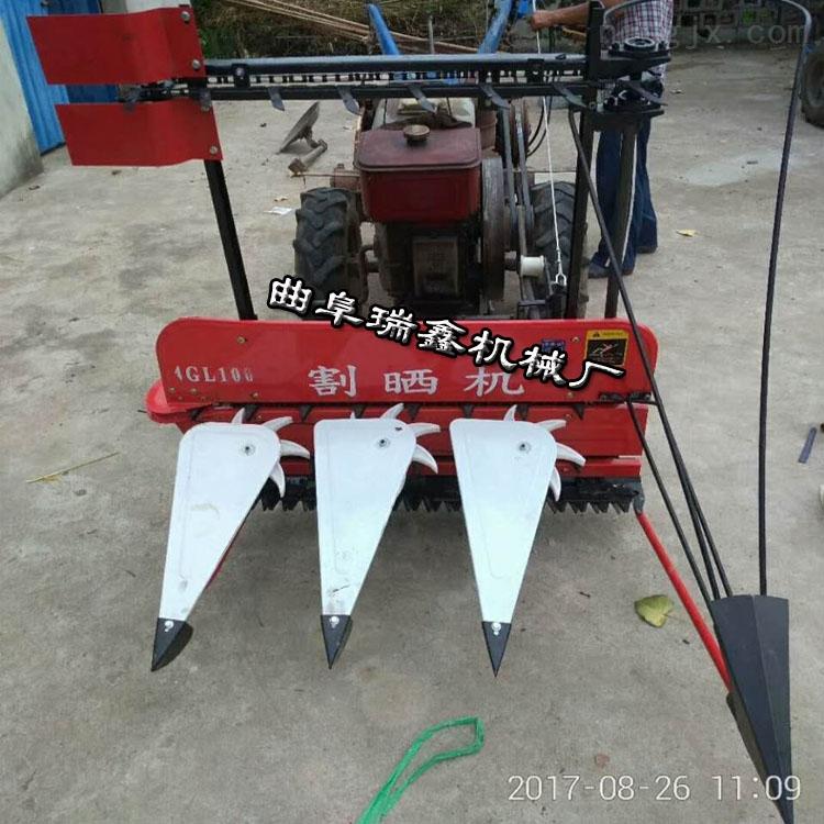手扶拖拉机带高杆作物收割机