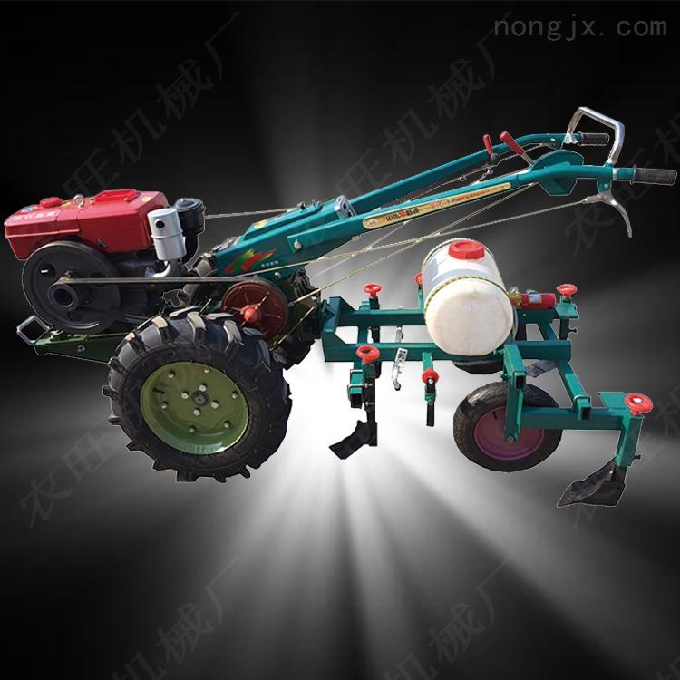 12马力的手扶拖拉机 多功能四轮旋耕犁地机