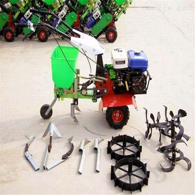 农用小型玉米播种机 手扶式茶园除草追肥机
