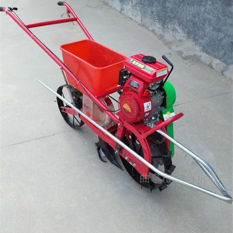 三行大豆施肥播种机汽油自走式施肥机