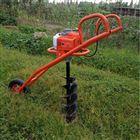 汽油机独轮手推式植树挖坑机