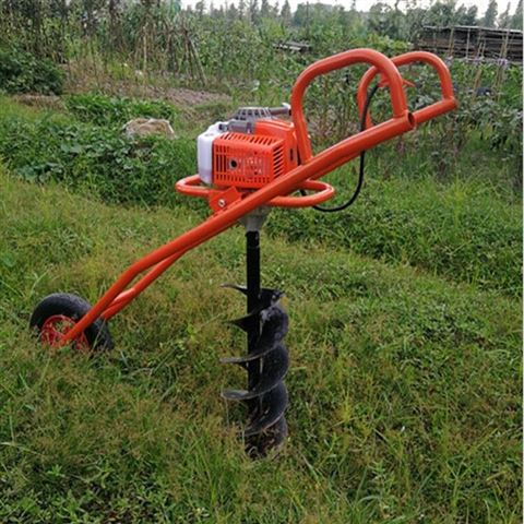 手推单人植树挖坑机 种树挖窝机