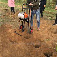 省人力栽树挖坑机 独轮带动打坑机批发