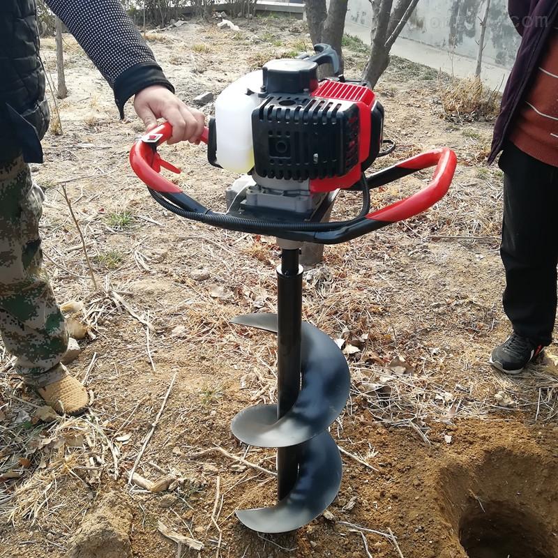单人汽油机钻地打桩种植施肥机挖坑机打洞机