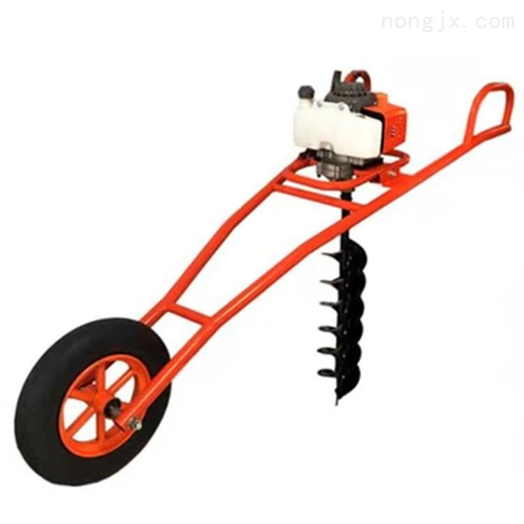 道路旁种树打眼机 拖拉机带钻树坑机 打桩机