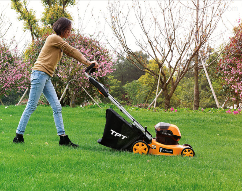 传峰36v电动草坪机TPLM3616 锂电草坪割草机