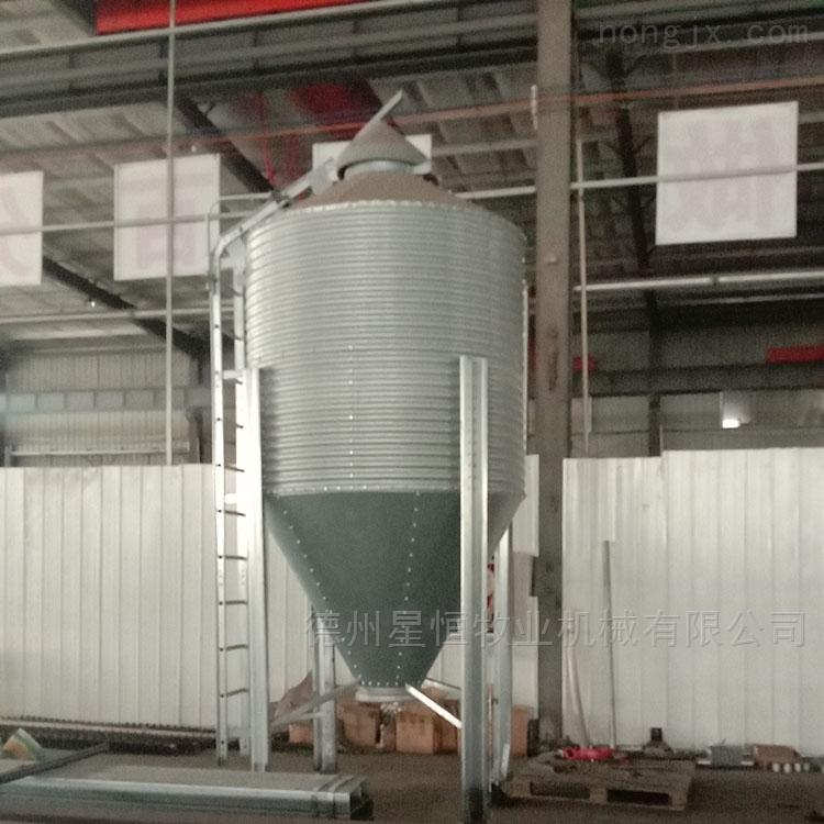 25吨-自动送料机械镀锌板料塔猪用饲料塔