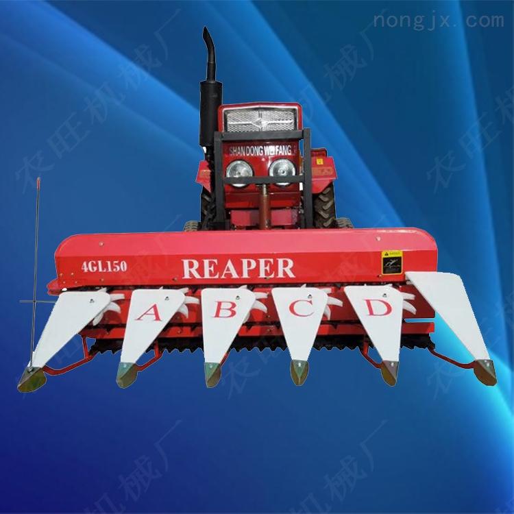 多功能汽油稻麦割晒机 手推自走式稻麦收割机
