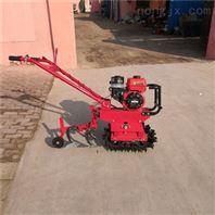 独轮链轨式小型犁田机可开沟施肥播种多用途
