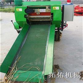 安徽玉米秸秆打包机 湿麦草粉碎包膜机
